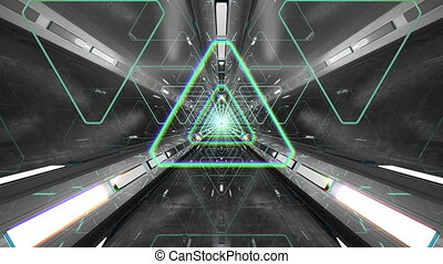 VJ Loop Triangular 3D Tunnel - 4K triangular 3D tunnel. VJ...