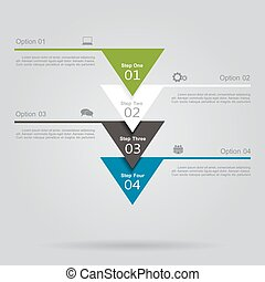 Infographic template with elements and icons. Vector...