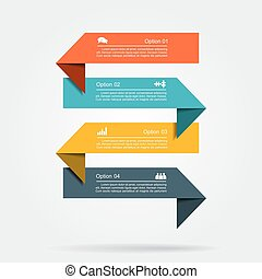 Infographic template with elements and icons. Vector illustration.