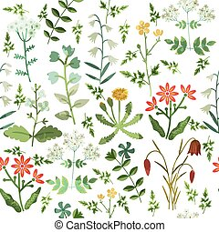 Seamless floral pattern - Seamless decorative pattern with...
