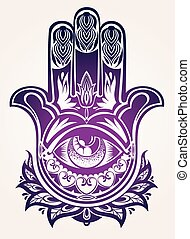 gk70.eps - Hand drawn Ornate amulet Hamsa Hand of Fatima