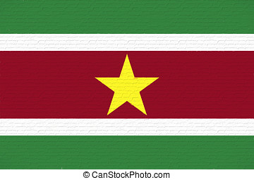 Flag of Suriname Wall - Illustration of the national flag of...