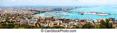 Majorca, Spain. Aerial view of Palma de Majorca