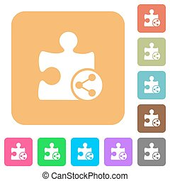 Share plugin rounded square flat icons - Share plugin flat...