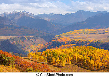 Autumn in Colorado - Colorful landscape of San Juan...