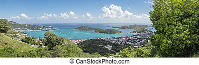 Charlotte Amalie in St. Thomas - The beautiful town of...