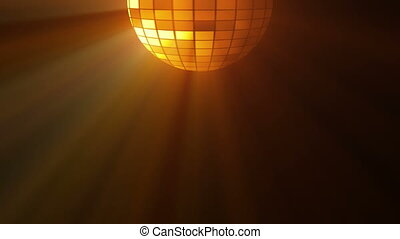 Abstract background with disco ball and lights. 3D...