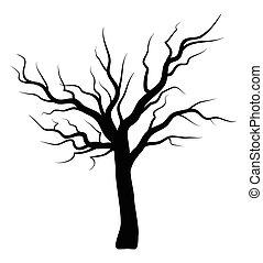 bare tree silhouette vector symbol icon design.