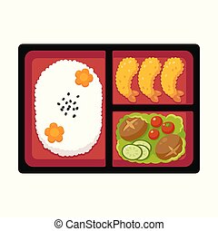 Japanese bento box - Traditional Japanese bento box lunch...