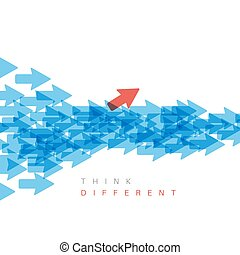 Think different concept illustration - Unique individuality...