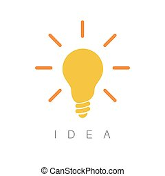Idea - minimalist concept ilustration - Great Idea -...