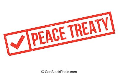 Peace Treaty rubber stamp. Grunge design with dust...