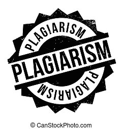 Plagiarism rubber stamp. Grunge design with dust scratches....