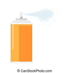 deodorant spray aerosol air freshener, vector illustration...