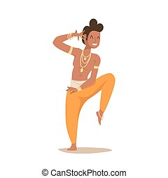 Indian man dancing vector isolated dancers silhouette icons...
