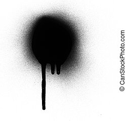 spray paint and drips - Drips and spray paint on a whit...