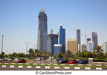 Abu Dhabi Skyline, UAE - Image of Abu Dhabi skyline, United...
