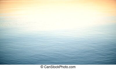 Stone skipping on calm water surface