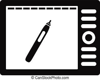 Graphics tablet icon, simple style - Graphics tablet icon....