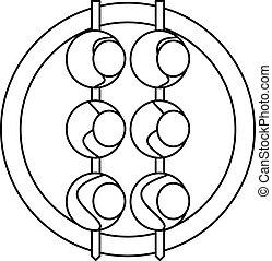 Asian shashlik icon, outline style - Asian shashlik icon....