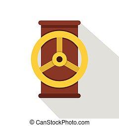Valve icon, flat style - Valve icon. Flat illustration of...