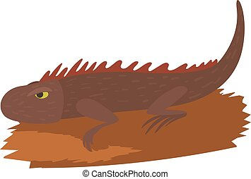 Iguana icon, cartoon style - Iguana icon. Cartoon...