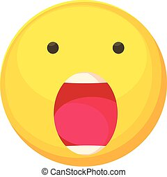 Scared smiley icon, cartoon style - Scared smiley icon....