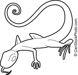 Lizard icon, outline style - Lizard icon. Outline...