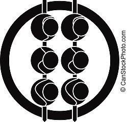 Asian shashlik icon, simple style - Asian shashlik icon....