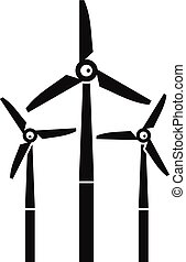 Windmill icon, simple style - Windmill icon. Simple...