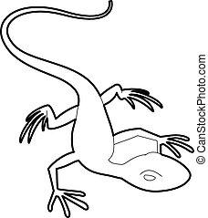 Little lizard icon, outline style - Little lizard icon....