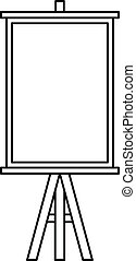 Easel icon, outline style - Easel icon. Outline illustration...