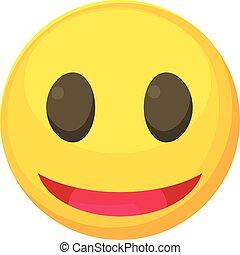 Smiley icon, cartoon style - Smiley icon. Cartoon...