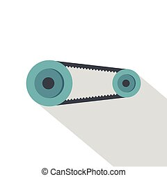 Mechanic belt icon, flat style - Mechanic belt icon. Flat...