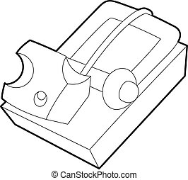 Mousetrap icon, outline style - Mousetrap icon. Outline...