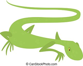 Brisk lizard icon, cartoon style - Brisk lizard icon....