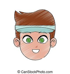 young handsome man icon image vector illustration design