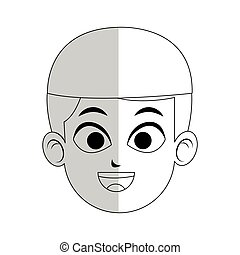 young handsome man icon image - young handsome man with hat...