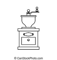Coffee grinder equipment icon vector illustration graphic...