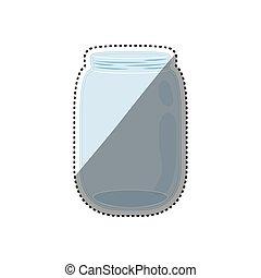 Mason jar glass icon vector illustration graphic design