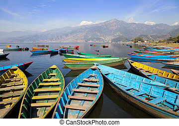 Lake Phewa, Pokhara, Nepal - Image of Lake Phewa at Pokhara,...