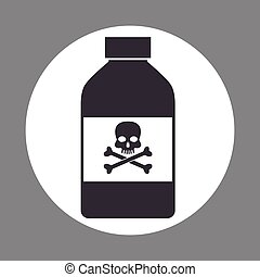 bottle potion danger laboratory chemistry dark design vector...