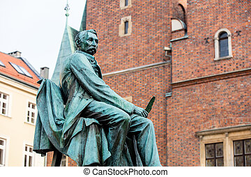 statue of the Polish poet, playwright and comedy writer...