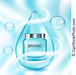 Template for Advertising Poster for Cosmetic Treatment Facial Skin Care