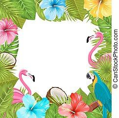 Tropical Frame Made in Beautiful Plants