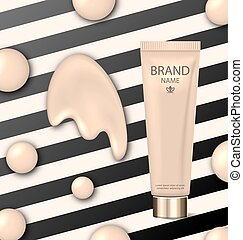 Poster for Cosmetic Product, Tube with Foundation