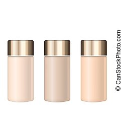 Collection Realistic Tubes of Foundations with Different Shades