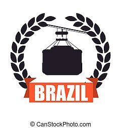 brazil cableway isolated icon vector illustration design