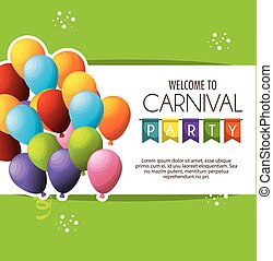 carnival party celebration card vector illustration design