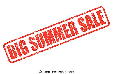 BIG SUMMER SALE red stamp text on white